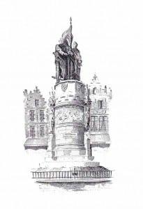 Брюгге памятник