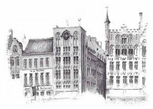 Брюгге рыночная площадь